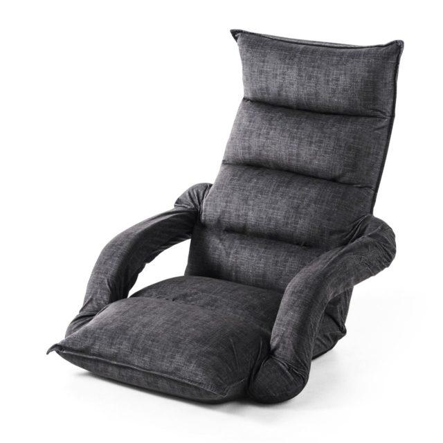 サンワダイレクト 座椅子 ひじ掛け付き 150-SNCF010BK